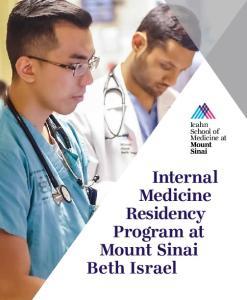 Icahn School of Medicine at. Internal Medicine Residency Program at Mount Sinai Beth Israel