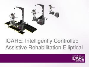 ICARE: Intelligently Controlled Assistive Rehabilitation Elliptical