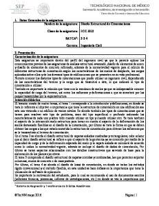 ICC-1012 SATCA 1 : Carrera: