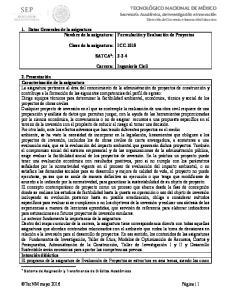 ICC-1015 SATCA 1 : Carrera: