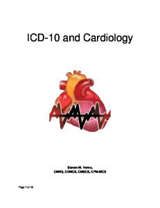 ICD-10 and Cardiology
