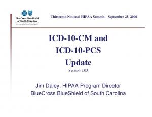 ICD-10-CM and ICD-10-PCS Update