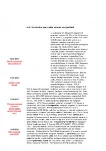 Icd 10 code for pancreatic cancer unspecified