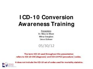 ICD-10 Conversion Awareness Training