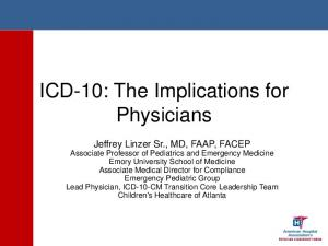 ICD-10: The Implications for Physicians
