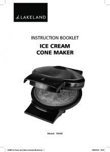 ICE CREAM CONE MAKER