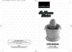 Ice Cream Maker. USER MANUAL Model: Helpline No: