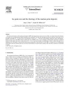 Ice grain size and the rheology of the martian polar deposits