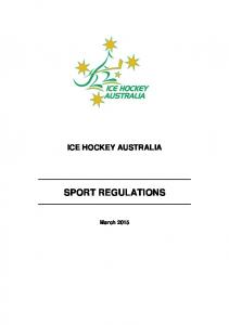 ICE HOCKEY AUSTRALIA SPORT REGULATIONS