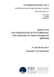 ICES Workshop: Risk Assessment for Spatial Management (WKRASM)