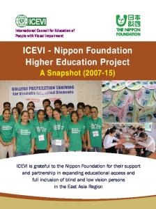 ICEVI - Nippon Foundation Higher Education Project