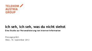 Ich seh, ich seh, was du nicht siehst Eine Studie zur Personalisierung von Internet-Information