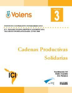 ICI. Cadenas Productivas Solidarias