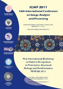 ICIAP th International Conference on Image Analysis and Processing
