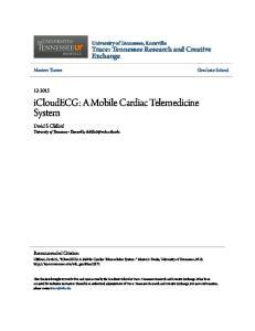 icloudecg: A Mobile Cardiac Telemedicine System