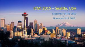 ICMI 2015 Seattle, USA