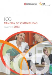 ICO MEMORIA DE SOSTENIBILIDAD. Avance 2013