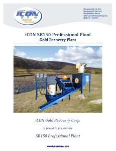 icon SB150 Professional Plant Gold Recovery Plant