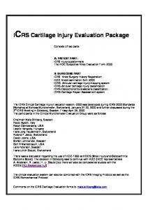 ICRS Cartilage Injury Evaluation Package