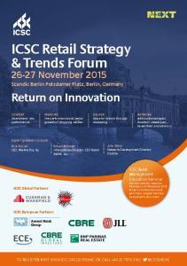ICSC Retail Strategy & Trends Forum