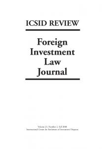 ICSID REVIEW Foreign Investment Law Journal
