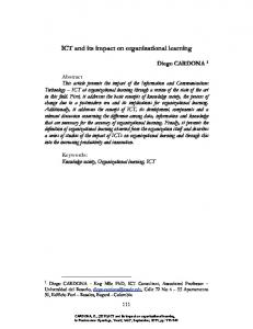 ICT and its impact on organizational learning