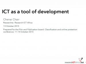 ICT as a tool of development