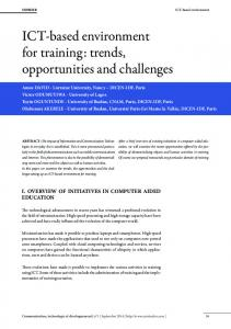 ICT-based environment for training: trends, opportunities and challenges