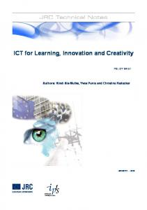 ICT for Learning, Innovation and Creativity