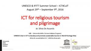 ICT for religious tourism and pilgrimage