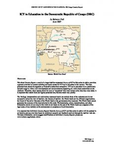 ICT in Education in the Democratic Republic of Congo (DRC)