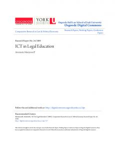 ICT in Legal Education