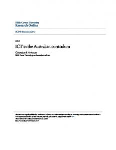 ICT in the Australian curriculum