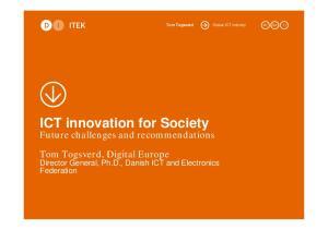 ICT innovation for Society