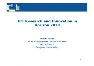 ICT Research and Innovation in Horizon 2020