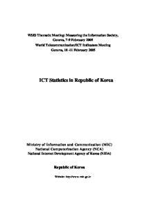 ICT Statistics in Republic of Korea