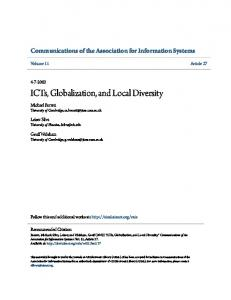 ICTs, Globalization, and Local Diversity