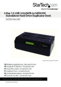 IDE Standalone Hard Drive Duplicator Dock