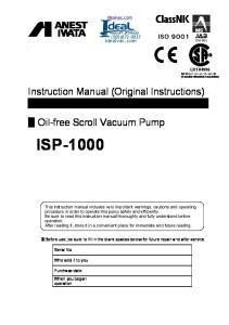 idealvac.com (505) Oil-free Scroll Vacuum Pump
