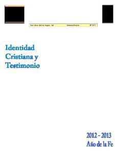 Identidad Cristiana y Testimonio