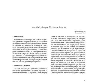 Identidad y lengua. El caso de Asturias