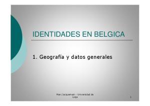 IDENTIDADES EN BELGICA