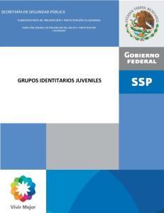 IDENTIDADES URBANAS JUVENILES GRUPOS IDENTITARIOS JUVENILES SECRETARÍA DE SEGURIDAD PÚBLICA