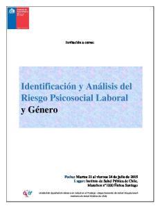 Identificación y Análisis del Riesgo Psicosocial Laboral y Género