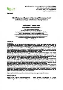 Identification and diagnosis of laboratory Methods superficial and cutaneous fungal infections and their prevalence