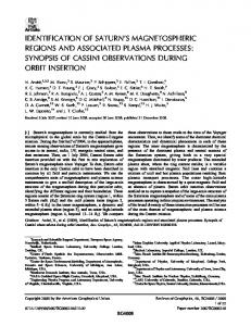 IDENTIFICATION OF SATURN S MAGNETOSPHERIC REGIONS AND ASSOCIATED PLASMA PROCESSES: SYNOPSIS OF CASSINI OBSERVATIONS DURING ORBIT INSERTION