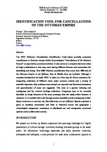 IDENTIFICATION TOOL FOR CANCELLATIONS OF THE OTTOMAN EMPIRE
