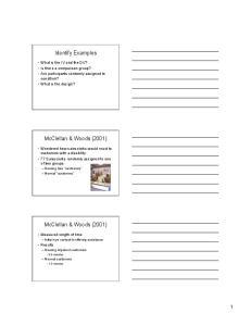 Identify Examples. McClellan & Woods (2001) McClellan & Woods (2001)