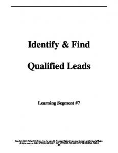 Identify & Find. Qualified Leads