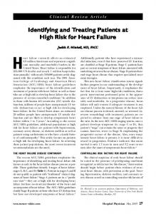 Identifying and Treating Patients at High Risk for Heart Failure